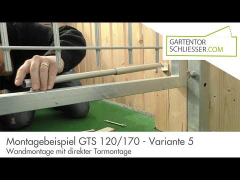 Gartentorschließer GTS 120 - Wandmontage unten