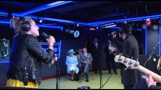 The Script, The Script perform for The Queen