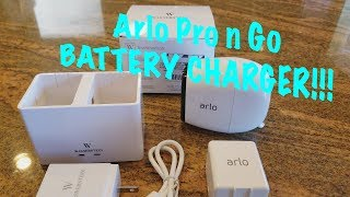 Arlo Pro, Pro 2 & Arlo Go Battery Charger Review - Wasserstein Charging Station
