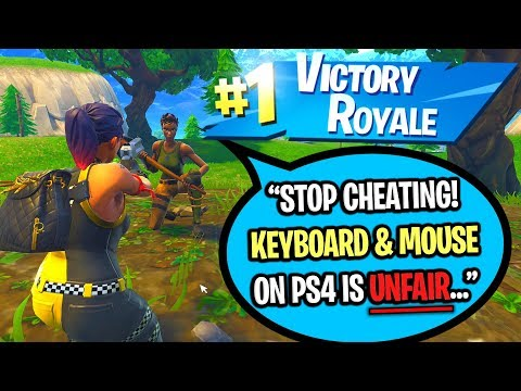 using keyboard and mouse to cheat in ps4 fortnite 1v1 build battles formula video dangdutan me - fortnite on ps4 with keyboard and mouse