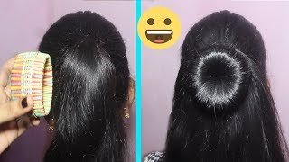 DIY messy Bun | How to make bun hairstyle with bangle for medium hair | Hairstyles for Girls