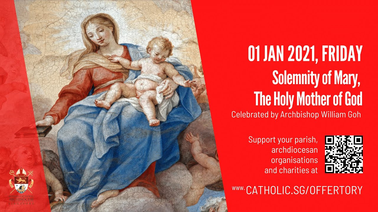 Catholic Online Mass Today 1st January 2021 New Year Livestream from Singapore