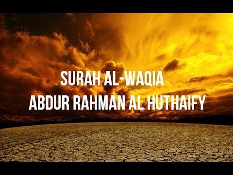Surah Al Waqia   Abdur Rahman Al Huthaify Masjid Nabawi