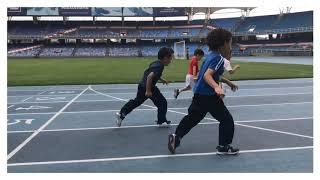 Nuestros pequeños atletas de Preescolar en el Estadio Olímpico Pascual Guerrero 🏟