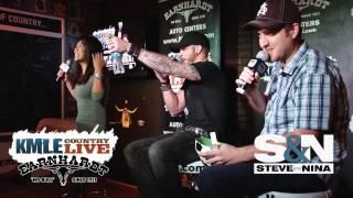 Brantley Gilbert Questions Nina D - KMLE Live