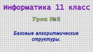 Информатика 11 класс Урок 2