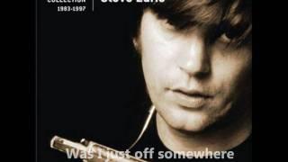 Steve Earle Goodbye With Lyrics Video