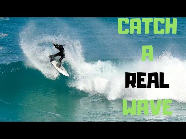 How To Catch A Real Wave   Surfing Blue Waves...NOT Whitewater!
