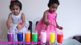 Happy Kids Learn Colors with Colourful Foam Colors and Water | Lucky Surprise ToysReview