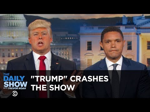 """""""President Trump"""" Crashes The Daily Show: The Daily Show"""
