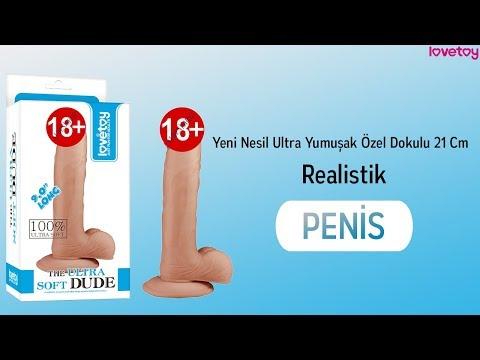 Yeni Nesil Ultra Yumuşak Özel Dokulu 21 Cm Realistik Penis-1086