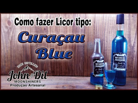Licor de Curaçau Blue