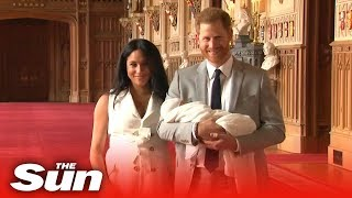 Prince Harry And Meghan Markle Show Off Their New Baby Archie To The World