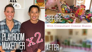 Double Basement Playroom Makeover - BEFORE & AFTER - With Connie Huson