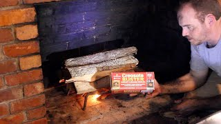 How To Clean Your Chimney + Testing a Creosote Log