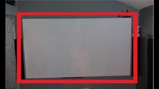 Comment faire une toile pour vidéoprojecteur pas cher