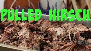 Pulled Hirsch vom Keramikgrill - Pulled smoked Venison