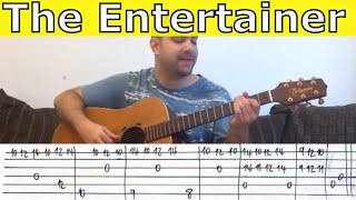 Tutorial: The Entertainer (Complete) - w/ TAB (Fingerstyle Guitar Lesson)