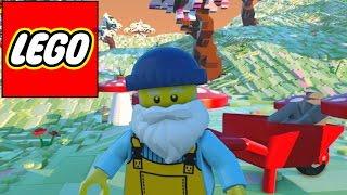 Lego Worlds - Wheelbarrow + Mushrooms (6)