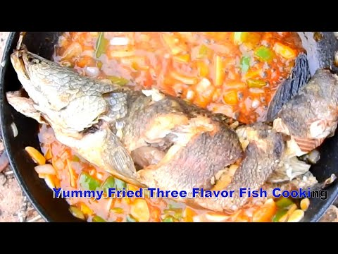 Wow Yummy Deep-Fried Three Flavor Fish Cooking Recipe| Asian Food Cooking
