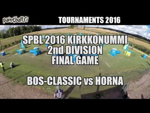 BOS-Classic vs Horna - Final Game - SPBL2016 Kirkkonummi