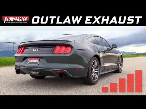 2015-17 Ford Mustang GT 5.0L - Outlaw Axle-back Exhaust System 817826