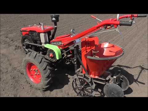 , title : 'Картофелесажалка для мотоблока. Посадка картошки 2018./Potato planter for motoblock.