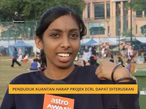 Penduduk Kuantan harap projek ECRL dapat diteruskan