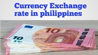 Currency exchange rate in philippines today | Philippines peso exchange rate Today | peso to Dollar