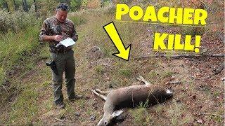 POACHER KILLS DEER RIGHT UNDER HUNTER!