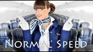 Flight Attendant Spanish Audio - See Link In Description For Transcript In English & Spanish