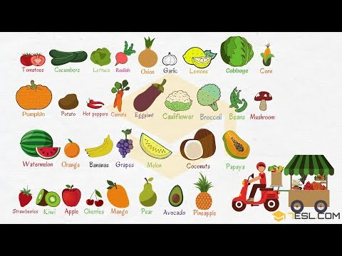 , title : 'Fruits and Vegetables in English: Learn Names of Fruits & Vegetables with Pictures