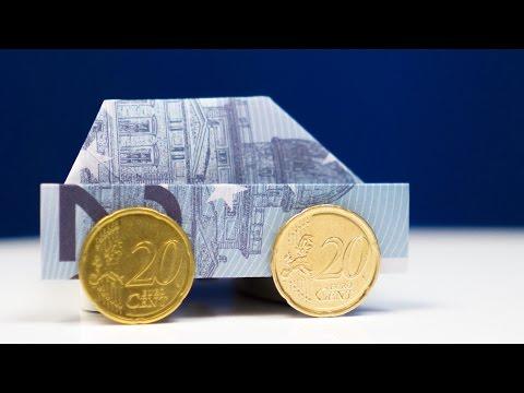 Geldgeschenk zum Führerschein: Auto falten