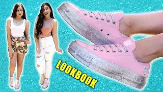 GLITTER CONVERSE LOOKBOOK - How I Style Sneakers    Lucykiins