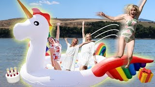 GiANT UNiCORN FAMiLY BiRTHDAY PARTY! 🎁🎈| Ellie And Jared
