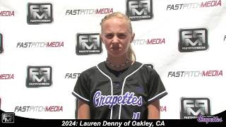 2024 Lauren Denny Slapper, Shortstop and Outfield Softball Skills Video - Ca Grapettes