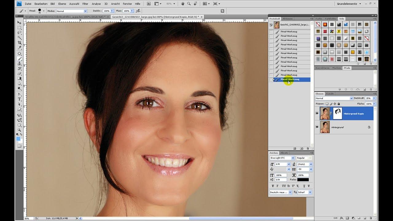 Haut verbessern (Retusche-Serie Teil 3) – Photoshop-Tutorial