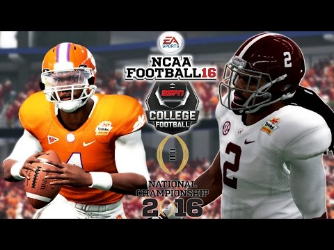 NCAA Football 16 -  CFP National Championship | #2 ALABAMA vs #1 CLEMSON | Is NCAA Football is Back?