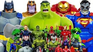 Hulk, Hulkbuster vs Thanos! Avengers Go~! Superman, Batman, Iron Man, Captain America, Spider-Man