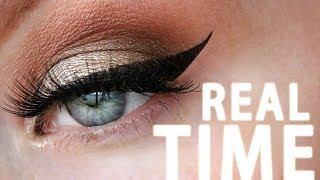 How to Apply Winged Eyeliner PERFECTLY | Shown in REAL TIME