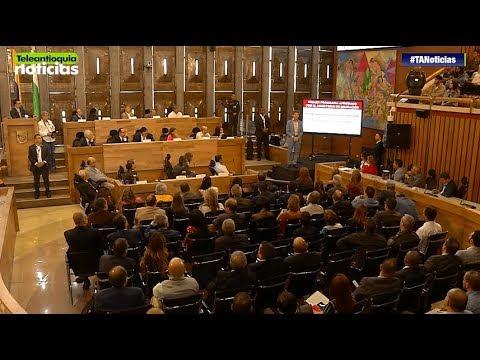El Gobernador Luis Perez Gutierrez rindio cuentas ante la Asamblea - Teleantioquia Noticias
