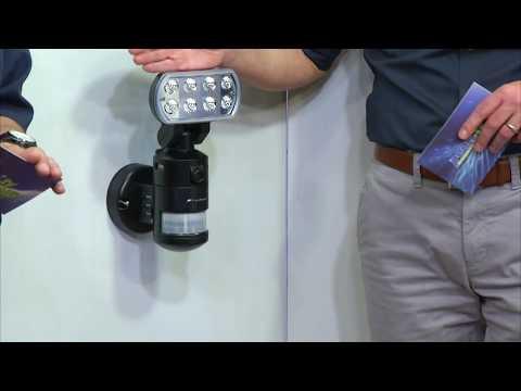 VisorTech LED-Flutlicht mit nachlaufender SD-Überwachungskamera