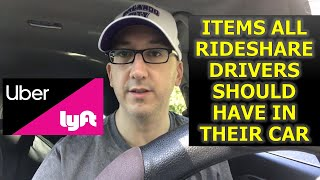Items all Uber & Lyft Drivers Should Have in Their Car