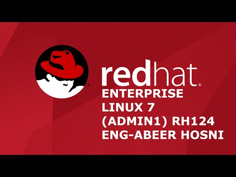 ‪18-Red Hat Enterprise Linux 7 (Admin1) RH124 (VNC server Bonus lab) By Eng-Abeer Hosni | Arabic‬‏