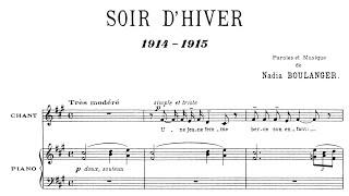 Nadia Boulanger - Soir d'hiver (1915)