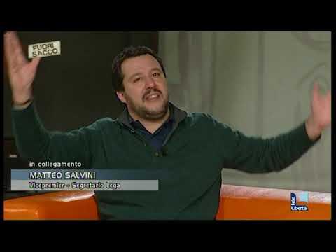L'intervento del vicepremier Matteo Salvini a Telelibertà