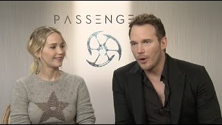 "Passengers: Jennifer Lawrence ""Aurora Lane"" & Chris Pratt ""Jim Preston"" Interview"