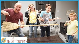 Family Fun Broom Party Game / That YouTub3 Family I The Adventurers