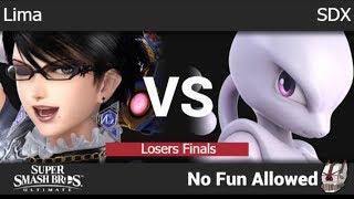 NFA 3 - Lima (Bayonetta, Ness) vs SDX (Mewtwo) Losers Finals - SSBU