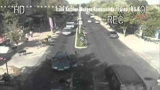 Edirne mobese ve trafik kameraları tarafından kaydedilen görüntüler (Araba Kazaları 2015)